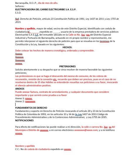 derecho-de-peticion-electricaribe